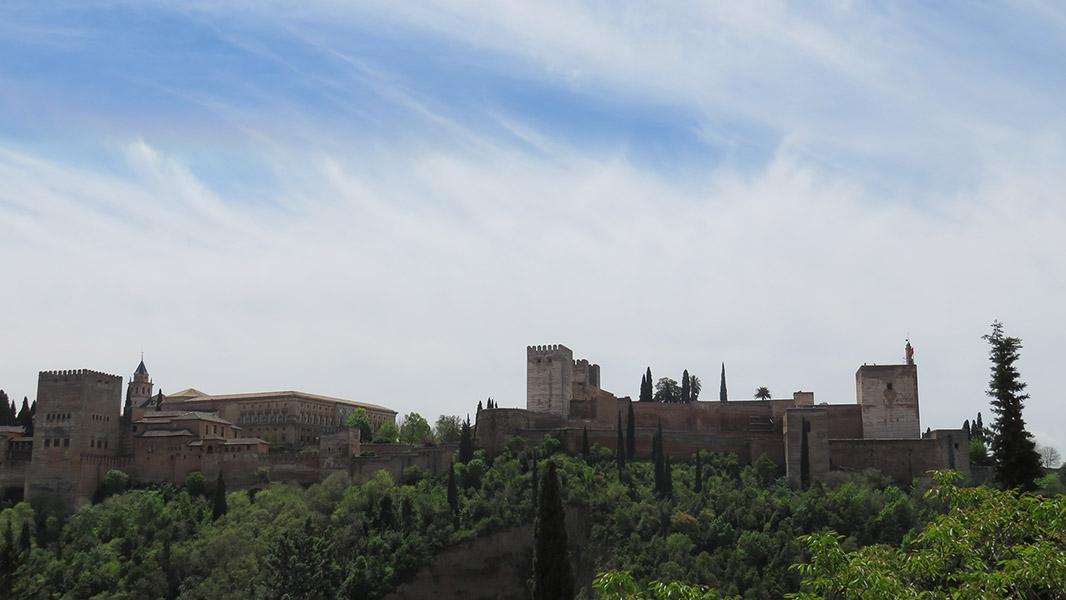 Vue sur l'Alhambra, perle de Grenade