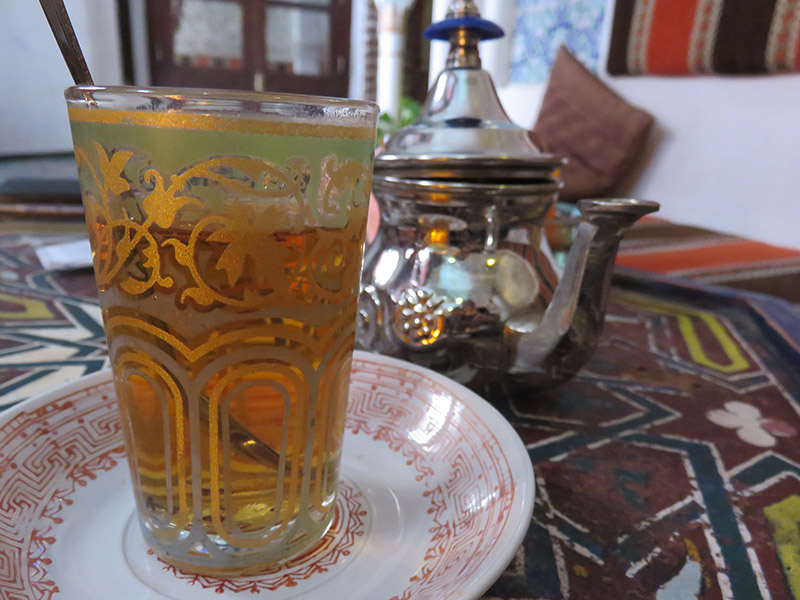 Petit thé dans une teteria de Grenade