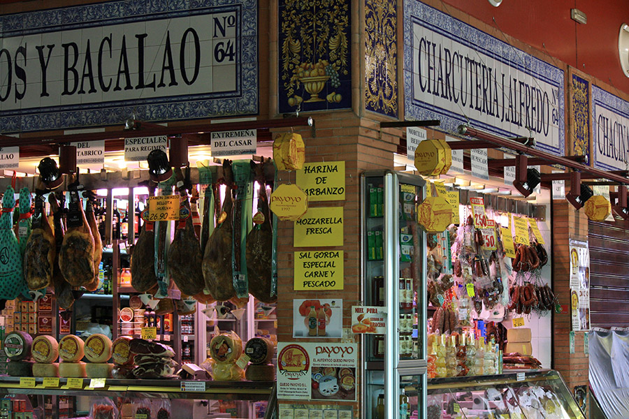 Marché dans le quartier Triana de Seville