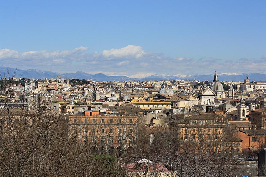 Vue sur Rome depuis le Janicule