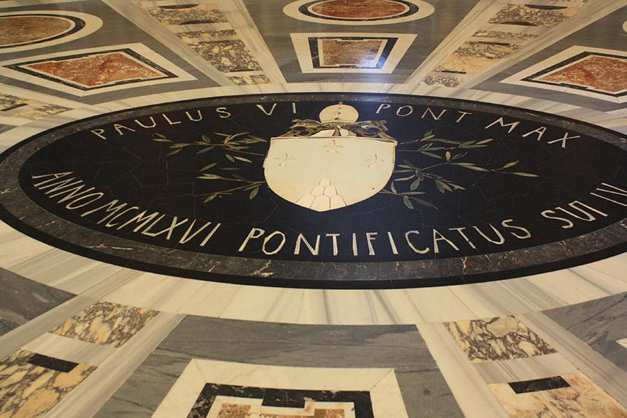 Sol de marbre Pontificatus
