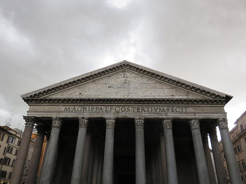 Façade du Pantheon