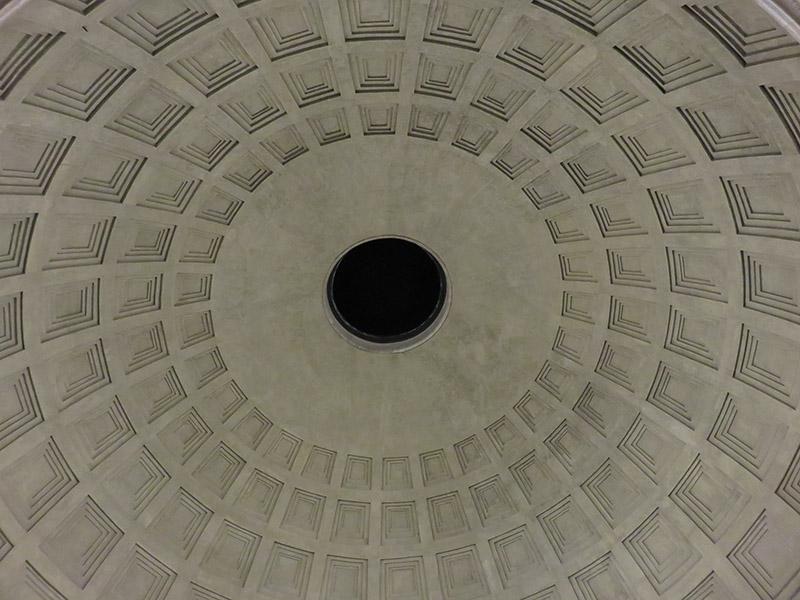 Plafond du Pantheon de Rome