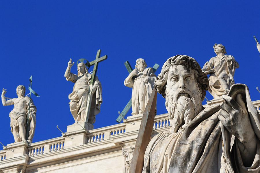 Façade de la basilique St Pierre au Vatican