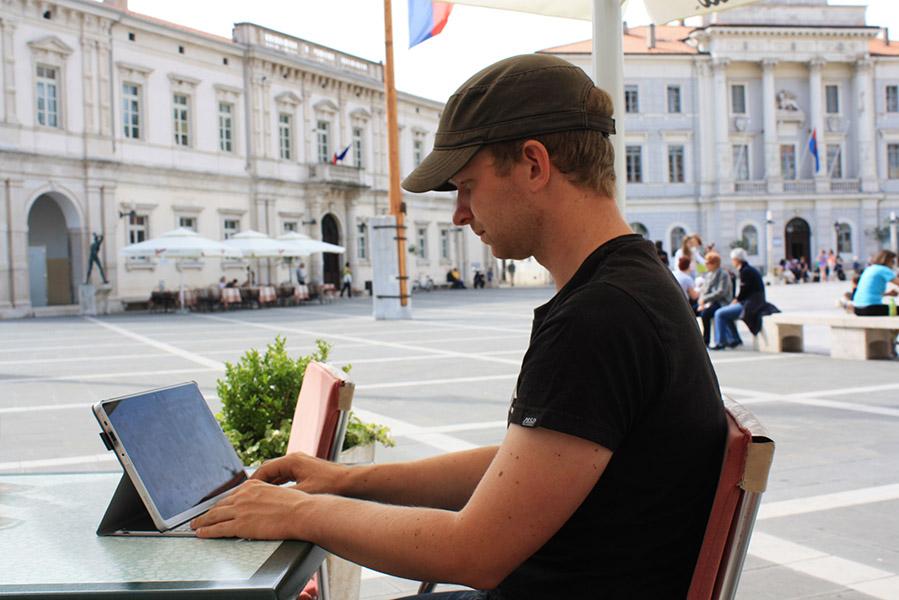 Place de Piran en slovénie