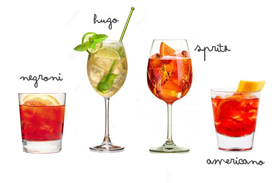 Cocktails pour l'aperitivo : negroni ou spritz