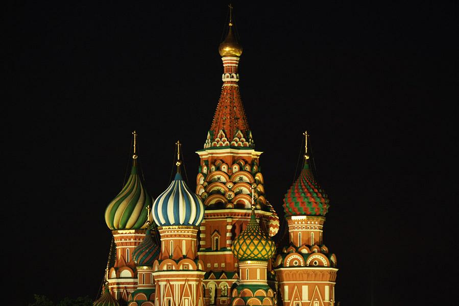 Eglise, place Rouge de Moscou en Russie