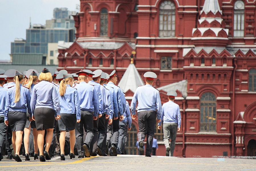 Défilé sur la place Rouge de Moscou