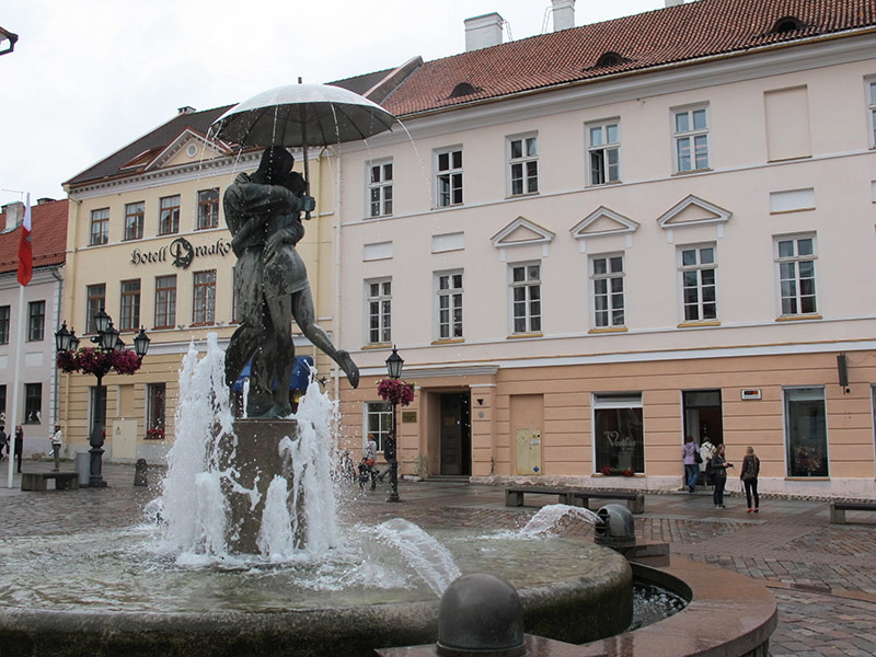 Place de Tartu en Estonie