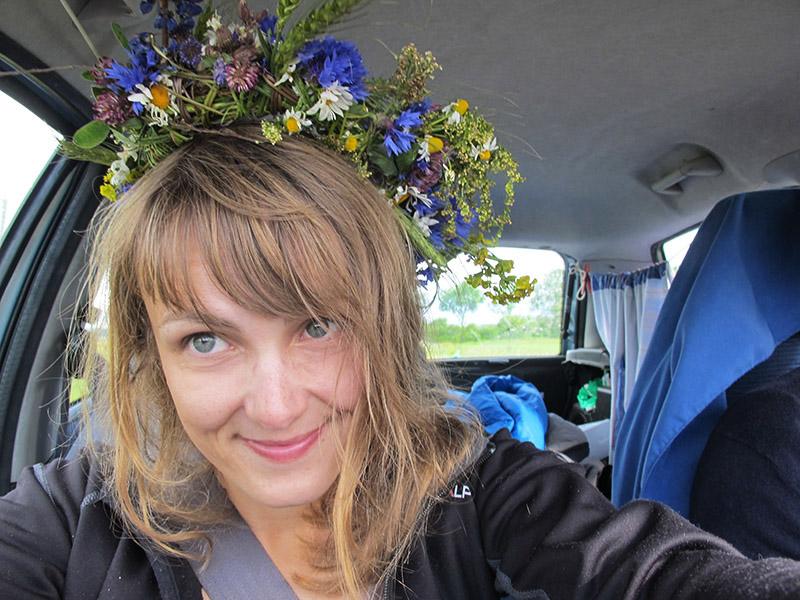 Courronne de fleurs pour Ligo