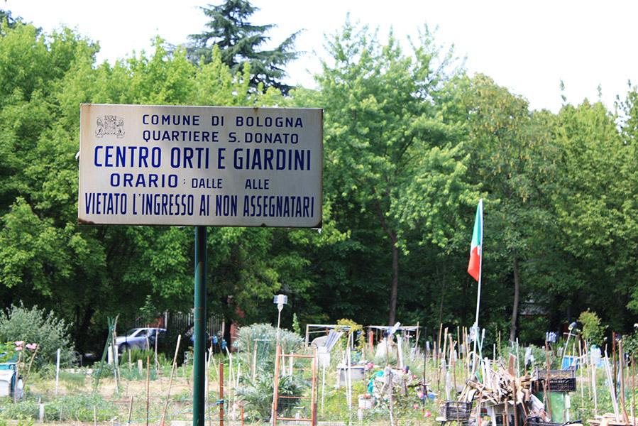 Jardins partagés de Bologne