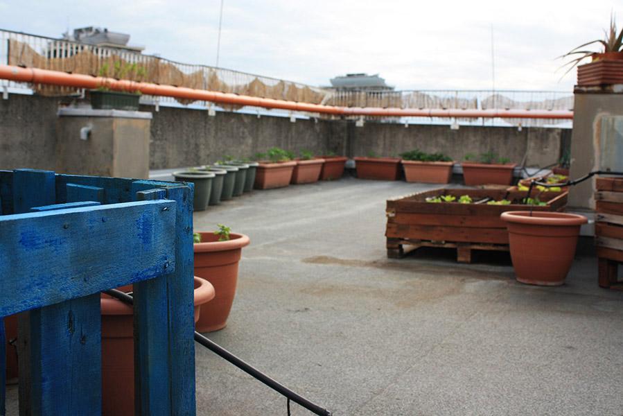 Jardins sur les toits de Bologne