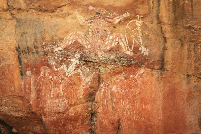 Nourlangie Rock, peinture rupestre à Kakadu