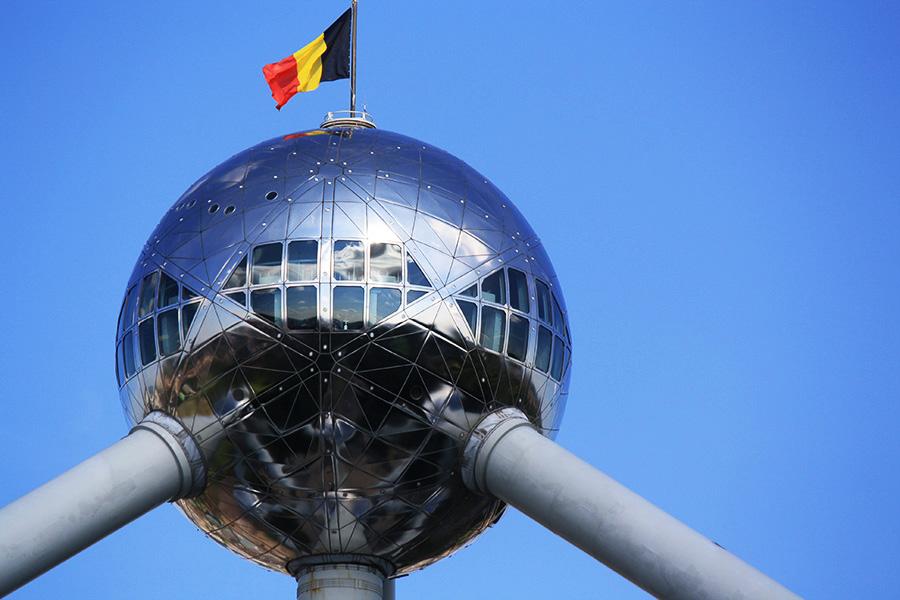 Drapeau belge sur Atomium