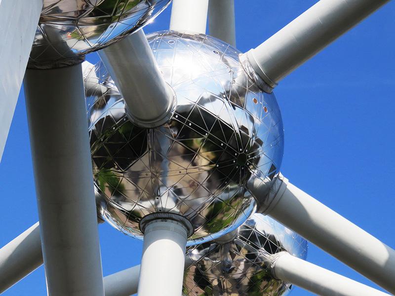 Atomes de fer de l'Atomium