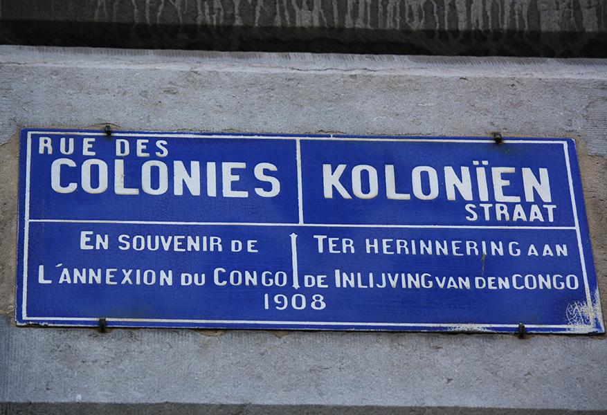 Panneau des colonies belges : annexion du Congo