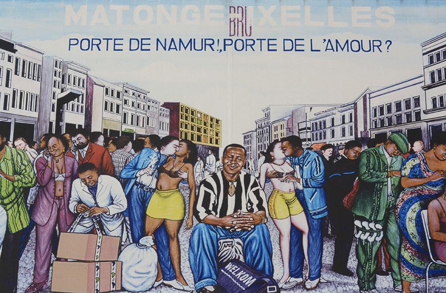 Fresque du quartier Africain Matonge