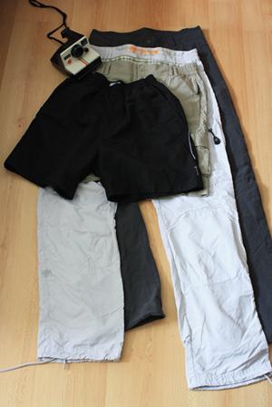 pantalons et shorts de voyage
