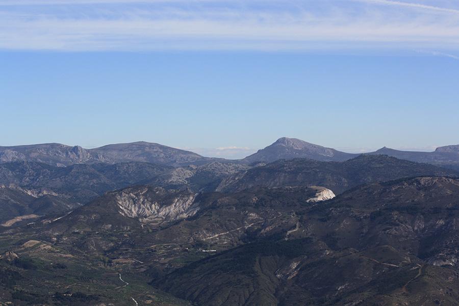 Vue sur le parc national de la Sierra Nevada