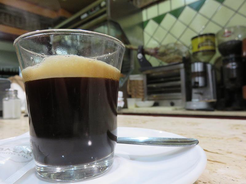 Espresso, cafe solo en Espagne