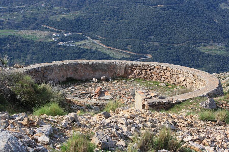 Vue au sommet de Cerro del Caballo