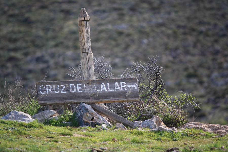 Panneau d'indication vers Cruz de Calar