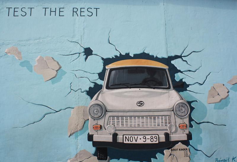 Les vestiges du mur de Berlin