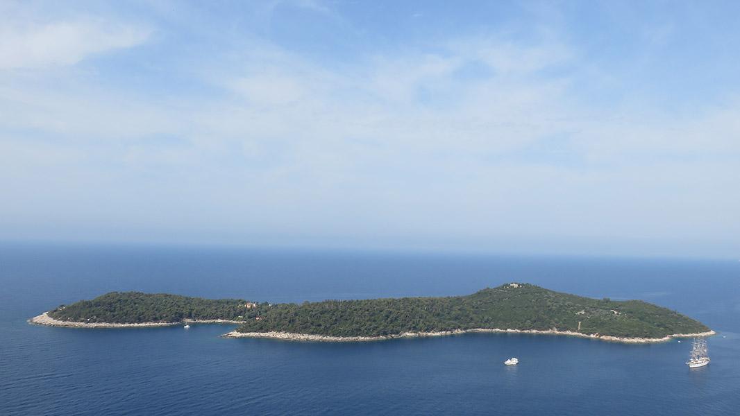 Ile de Lokrum depuis Dubrovnik