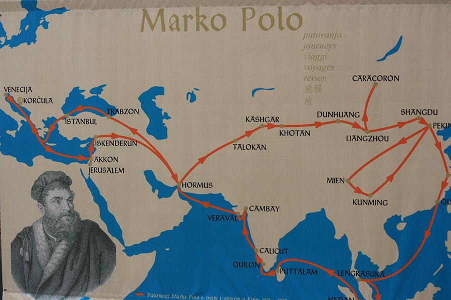 Marco Polo à Korcula en Croatie