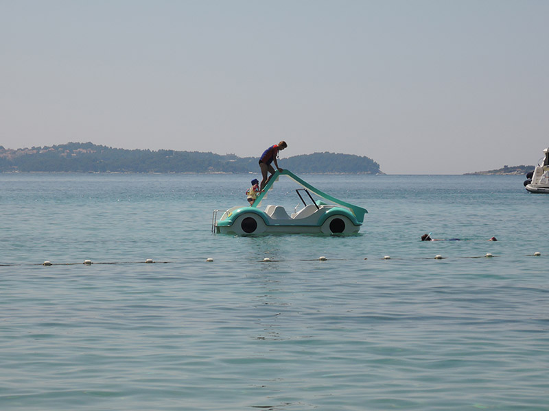 Pedalo sur la riviera croate