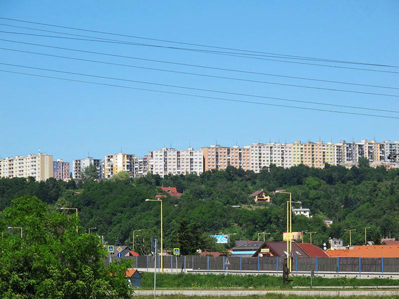 Ceinture de blocs à Košice