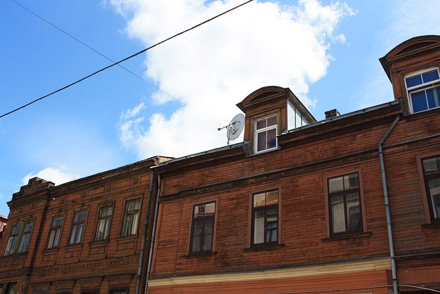Maison typique en bois à Riga
