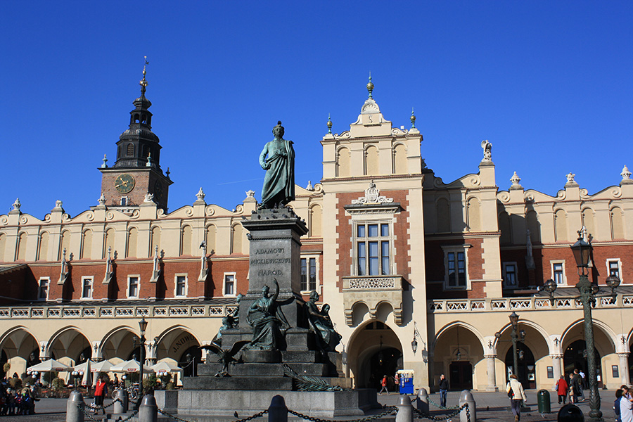 Place du marché principale de Cracovie
