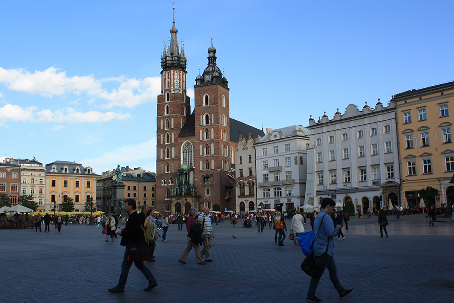 Cracovie, tours de la basilique Sainte Marie