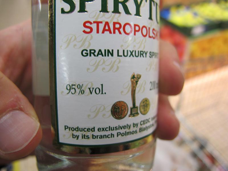 Spirytus, alcool fort polonais