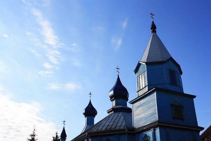 Eglise orthodoxe à la frontière biélorusse