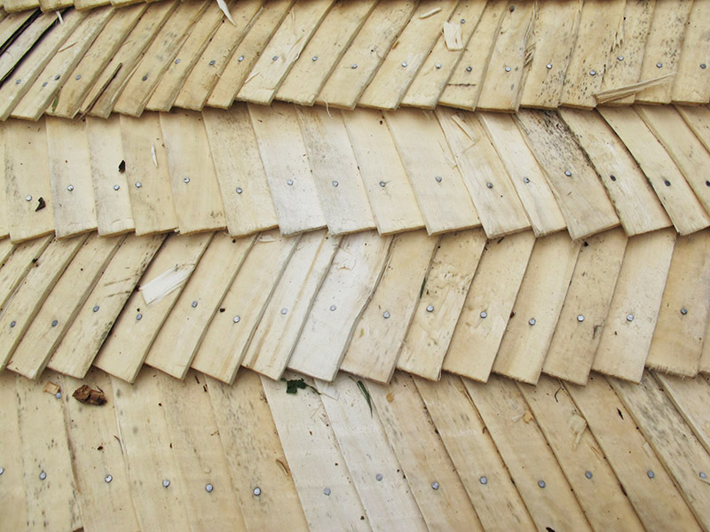 Technique pour toit polonais en bois