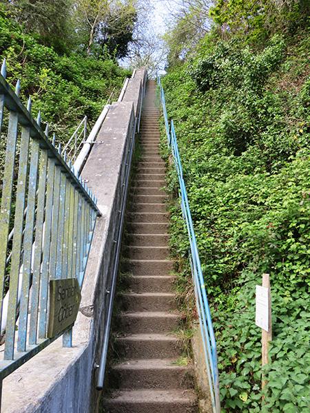 Randonnée en Bretagne, escaliers