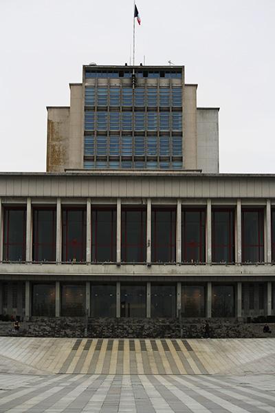 Hotel de ville de Brest, brutalisme du finistère