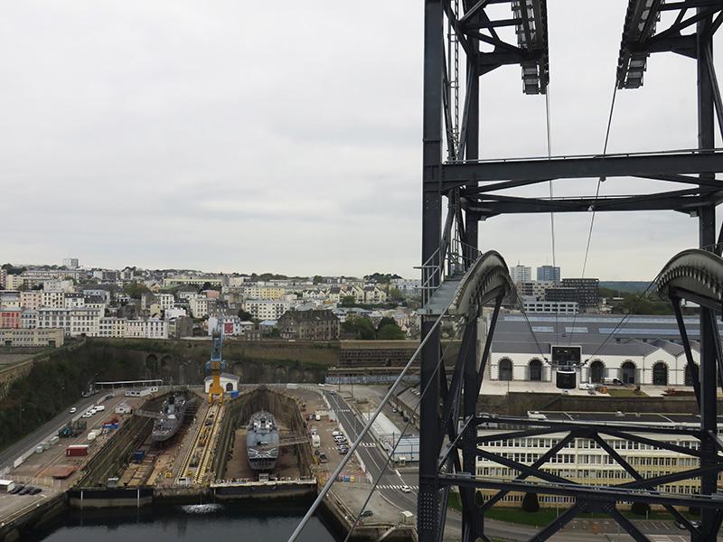 Vue depuis le téléphérique de Brest