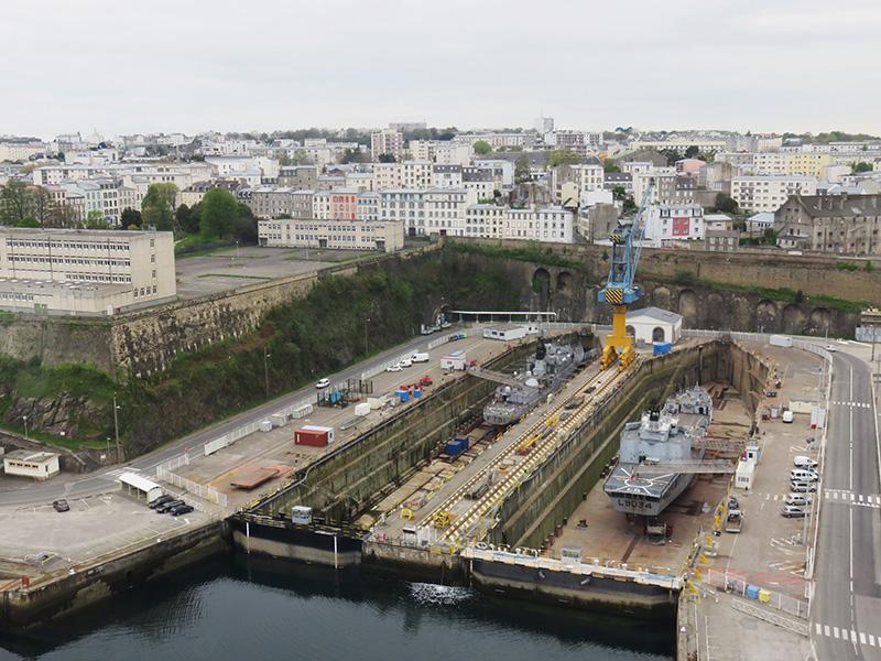 Brest par dessus la Penfeld
