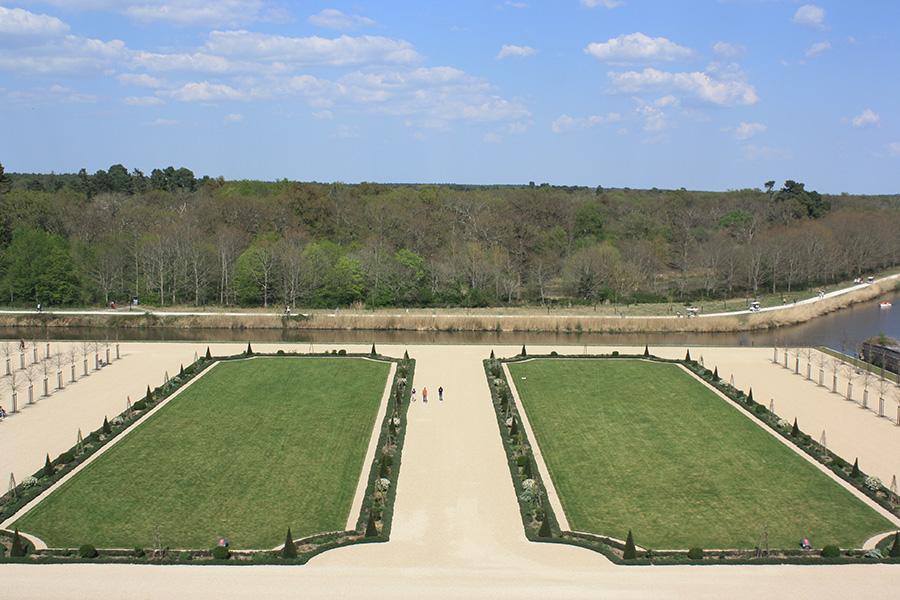 Jardins à la française du château de Chambord