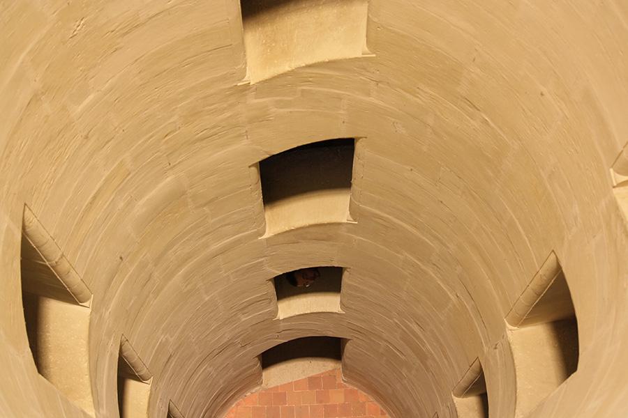 Escalier du chateau de Chambord de Léonard de Vinci