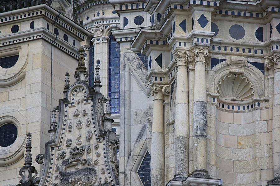 Détails des toits du château de Chambord