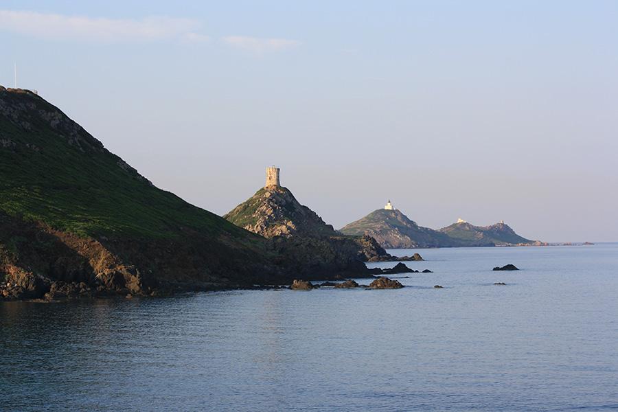 Vue du chemin des douaniers vers Capo di feno