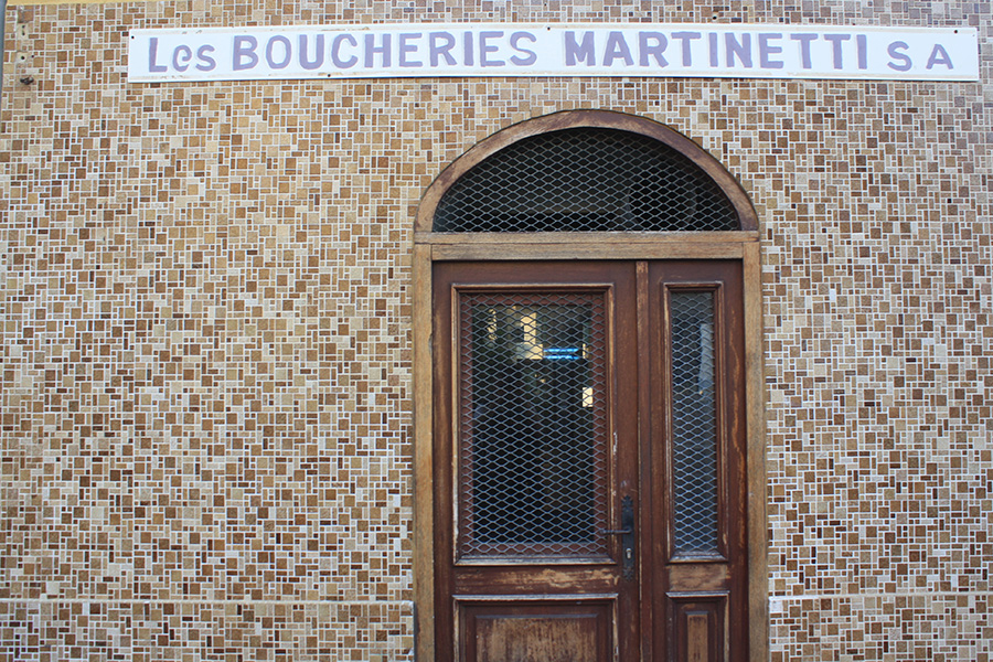 Devanture Boucheries Martinetti d'Ajaccio