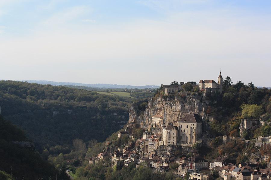Vue et panorama sur Rocamadour et la vallée de l'Alzou
