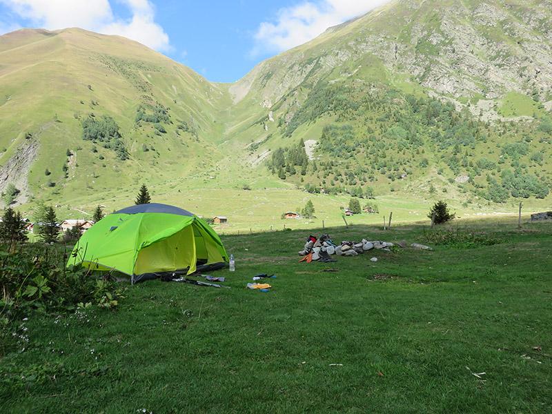 Tente - chalets de Miage