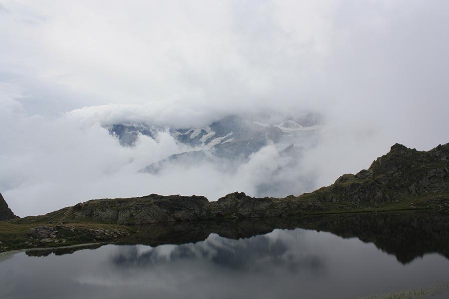 Lac Lérié face à la Meije