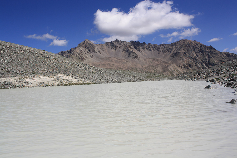GR 54 et le lac du glacier d'Arsine